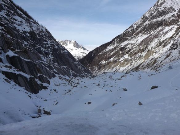 La mer de glace, the glacier above Chamonix accessible by train